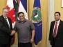 Firma Acta de Reunion en materia de Transporte Aereo Nicaragua - Canada - Salon de las Banderas MINREX