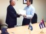 Firma de Convenio de Cooperacion Tecnica Aeronautica Nicaragua - Cuba