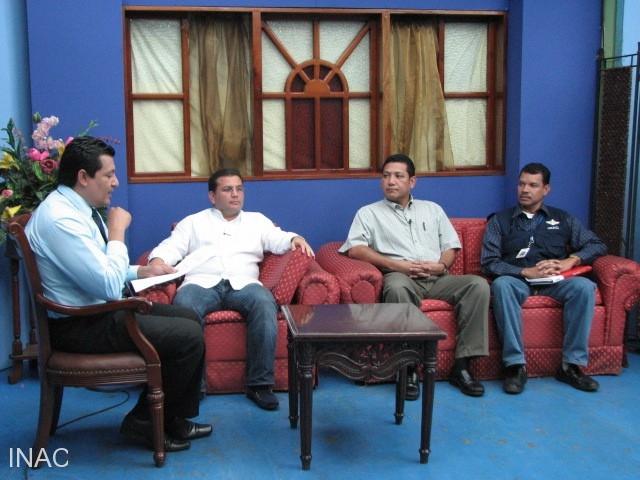 entrevista-sobre-la-seguridad-aerea-en-nicaragua-en-el-canal-11-de-television