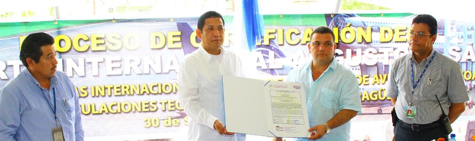 Concluye Proceso de Certificación del Aeropuerto Internacional Augusto C. Sandino